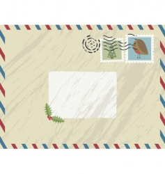 Christmas airmail vector