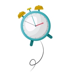 clock alarm time drawing isolated icon vector image