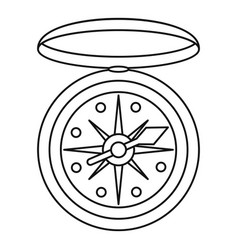 compass icon outline style vector image