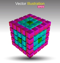 Cube colour vector image vector image