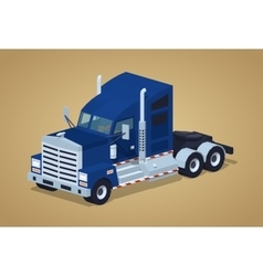 Dark-blue heavy american truck vector