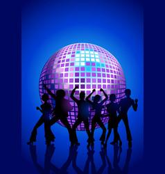 Disco dancing people vector