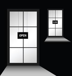 Door with open close vector