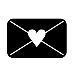Envelope with heart love romantic icon vector
