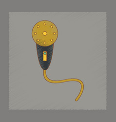 Flat shading style icon kids microphone vector