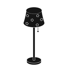 Floor lamp icon in black style isolated on white vector image vector image