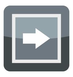 Gray button icon cartoon style vector