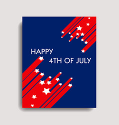 Happy 4th of july vector