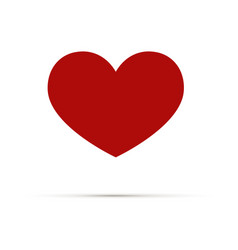 heart icon love symbol a symbol of care vector image vector image