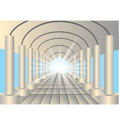 Light in the end of tunnel vector