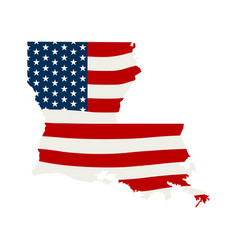 Louisiana patriotic map graphic design vector