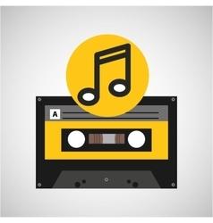 Note music cassette tape vector