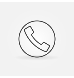Phone line icon or logo vector image