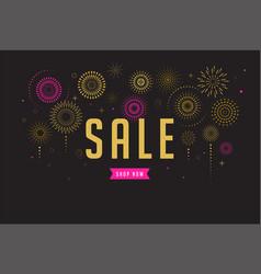 sale poster fireworks and celebration background vector image