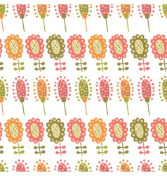 seamless pattern with multiple colored flowers vector image vector image