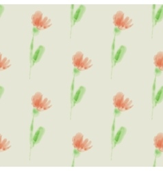 Seamless pattern with watercolor flowers for vector