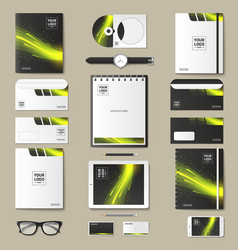 set of mock-ups of corporate style vector image vector image