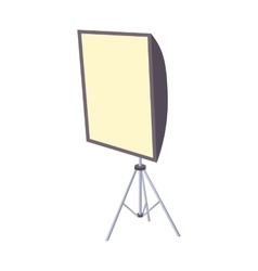 Softbox icon cartoon style vector