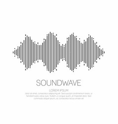Sound wave monochrome soundwave icon logo vector