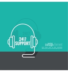 Tech Support Icon vector image vector image