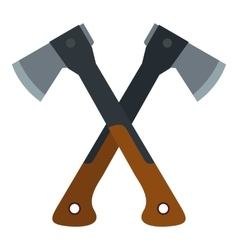 Two axes icon flat style vector image