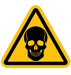 Warning sign with skull vector
