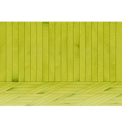 Wooden room with green wood vector