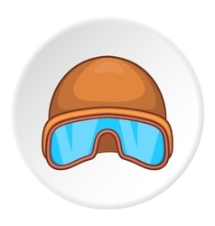 Hat and sunglasses tanker icon cartoon style vector