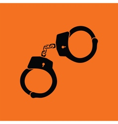 Police handcuff icon vector