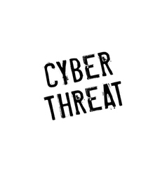 Cyber threat rubber stamp vector