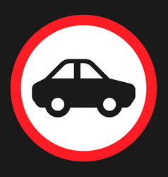 No motor and car sign flat icon vector