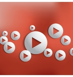 Play button background vector
