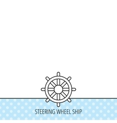 Ship steering wheel icon captain rudder sign vector