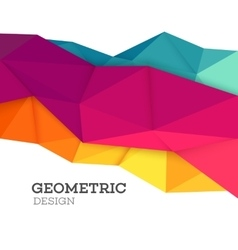 Abstract geometric triangle low poly set vector