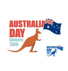 Australia day for patriotic holiday of country Ka vector image