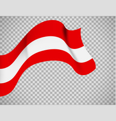 austria flag on transparent background vector image vector image