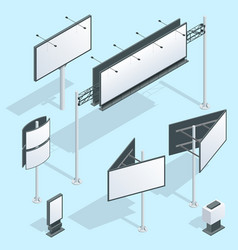 billboard isometric set of different perspectives vector image vector image