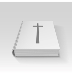 Book with a cross vector image