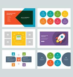 business presentation templates flat design vector image
