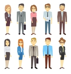 Businessmen businesswomen employee people vector