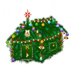 christmas home vector image vector image