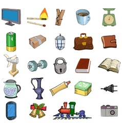 Home related objects vector