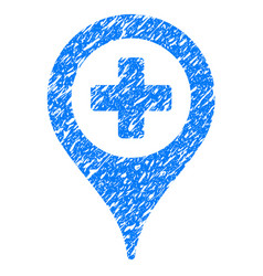 Hospital map pointer grunge icon vector