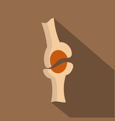 Knee joint icon flat style vector