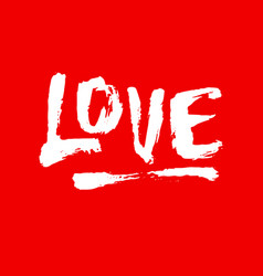 Love lettering badge vector