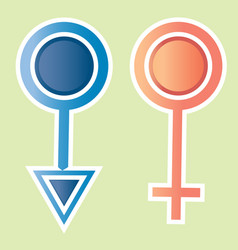 male female icon design vector image vector image