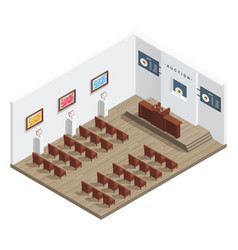 Modern auction room interior vector