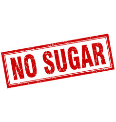 No sugar square stamp vector