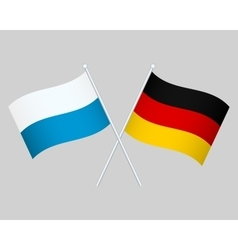 Official national flag of germany and bavaria vector