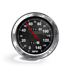Old rusty speedo meter vector